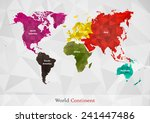 world map is classified by... | Shutterstock .eps vector #241447486