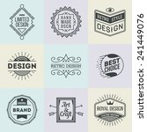 assorted retro design insignias ... | Shutterstock .eps vector #241449076