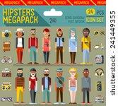 hipsters megapack. flat design. ... | Shutterstock .eps vector #241449355