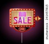 neon sign big sale | Shutterstock .eps vector #241457815