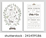 wedding invitation template... | Shutterstock .eps vector #241459186