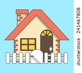 vector house  icon flat line... | Shutterstock .eps vector #241467808