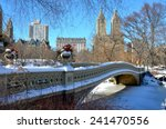 New York City Bow Bridge In Th...