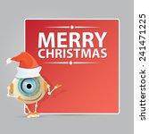 cartoon cute robot with red... | Shutterstock .eps vector #241471225