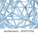 abstract structure isolated on... | Shutterstock . vector #241473742