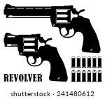 black silhouette gun revolver...   Shutterstock .eps vector #241480612