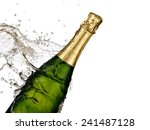champagne splash  close up | Shutterstock . vector #241487128