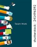 team work flat concept vector... | Shutterstock .eps vector #241496392