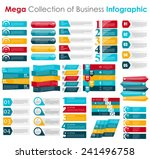collection of infographic... | Shutterstock .eps vector #241496758
