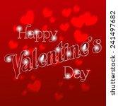 happy valentine's day lettering ... | Shutterstock .eps vector #241497682