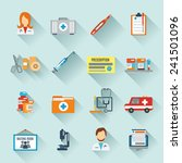 doctor icon set with medical... | Shutterstock .eps vector #241501096