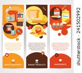 bakery vertical banner set with ...   Shutterstock .eps vector #241502992