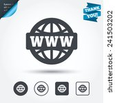 www sign icon. world wide web... | Shutterstock .eps vector #241503202