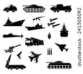 army. icons military in a...