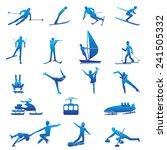 set of winter sport silhouettes.... | Shutterstock .eps vector #241505332