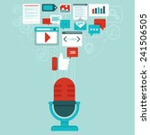 vector podcast concept in flat... | Shutterstock .eps vector #241506505