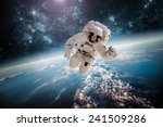 astronaut in outer space... | Shutterstock . vector #241509286