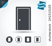 door sign icon. enter or exit... | Shutterstock .eps vector #241513105