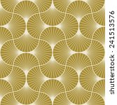 seamless gold colored art deco... | Shutterstock .eps vector #241513576
