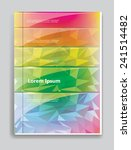 brochure cover. abstract... | Shutterstock .eps vector #241514482