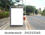 a blank white sign on bus... | Shutterstock . vector #241515265