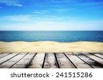sandy beach on sunny summer day ... | Shutterstock . vector #241515286