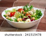 delicious vegetarian salad in... | Shutterstock . vector #241515478