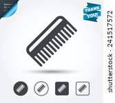 comb hair sign icon. barber... | Shutterstock .eps vector #241517572