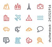 travel web icons set | Shutterstock .eps vector #241521916