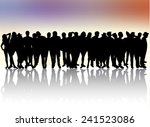 peoplep silhouettes | Shutterstock .eps vector #241523086