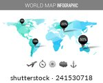 abstract world map with tags ... | Shutterstock .eps vector #241530718