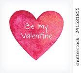 vector watercolor heart ... | Shutterstock .eps vector #241531855