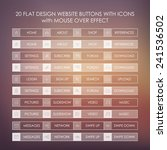 set of 20 basic website icons...
