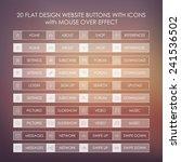 set of 20 basic website icons...