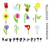 flower icons | Shutterstock .eps vector #241537756