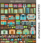 big urban set. vector | Shutterstock .eps vector #241539955