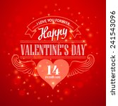 typography valentine's day... | Shutterstock .eps vector #241543096