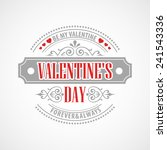 typography valentine's day cards | Shutterstock .eps vector #241543336