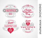 typography valentine's day cards | Shutterstock .eps vector #241543342