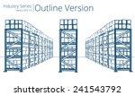 warehouse shelves. vector...   Shutterstock .eps vector #241543792