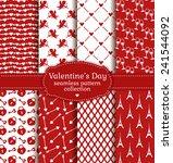 happy valentine's day  set of...   Shutterstock .eps vector #241544092