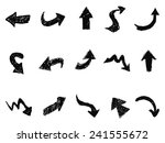 doodle arrow sign icons | Shutterstock .eps vector #241555672