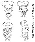 chef head set collection | Shutterstock . vector #241558765