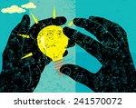 forming an idea  | Shutterstock .eps vector #241570072