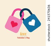 valentine heart lock symbol.   Shutterstock .eps vector #241570636