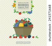 banner with different berries... | Shutterstock .eps vector #241571668