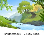 river stream flowing through a... | Shutterstock .eps vector #241574356