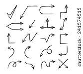 hand drawn arrows  vector arrow ...   Shutterstock .eps vector #241574515