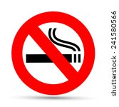 no smoking sign on a white...   Shutterstock .eps vector #241580566