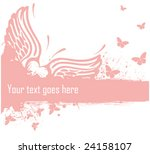 heart and butterflies | Shutterstock .eps vector #24158107